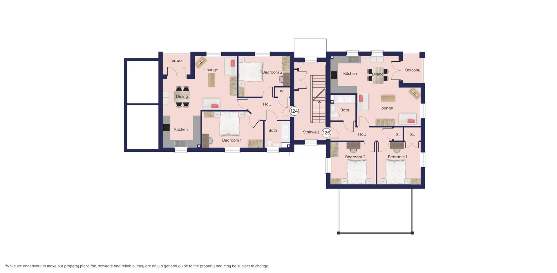 Kingfisher Grange Bursledon_Floor plate_Plots 124